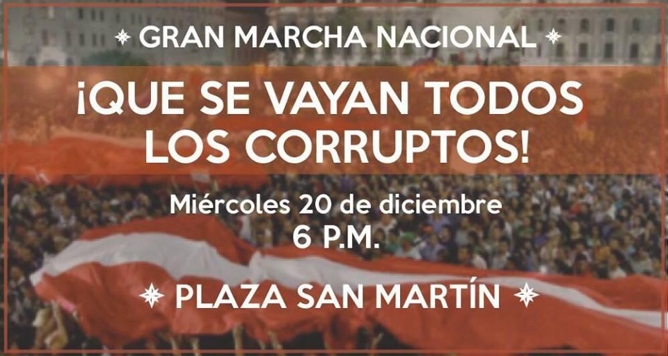 PRÓXIMA MARCHA NACIONAL #20DIC: ¡QUE SE VAYAN TODOS LOS CORRUPTOS!