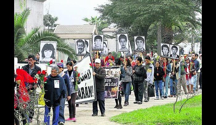 Romería de los estudiantes de La Cantuta a 26 años de su desaparición