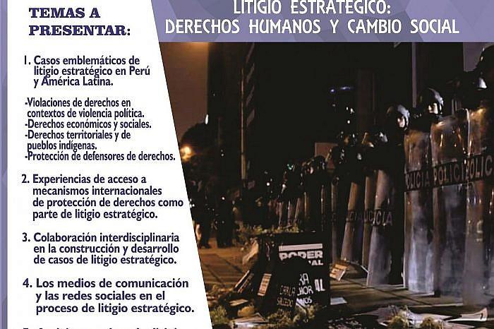 """VII Congreso Peruano de Derechos Humanos 2018: """"El litigio estratégico como herramienta para el cambio jurídico, social y cultural"""""""