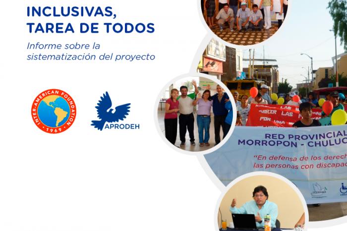 """Sistematización del Proyecto """"Ciudades Inclusivas, tarea de todos"""""""