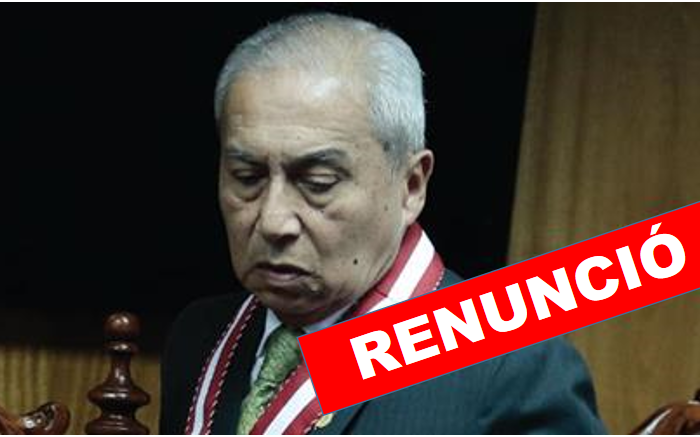 Pedro Chávarry renunció al cargo de Fiscal de la Nación ante Junta de Fiscales Supremos