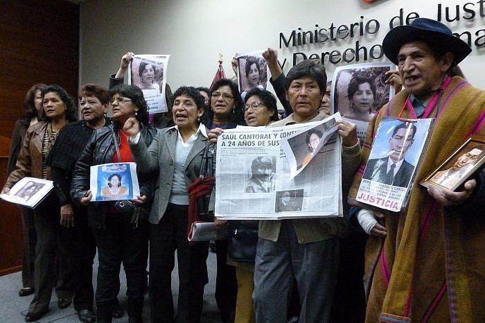 Estado peruano ofrece disculpas públicas por caso Saúl Cantoral y otros - 2013