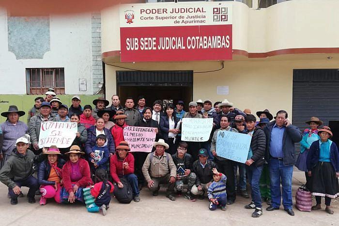 SUSPENDEN AUDIENCIA CONTRA 19 DEFENSORES CRIMINALIZADOS POR CONFLICTO LAS BAMBAS