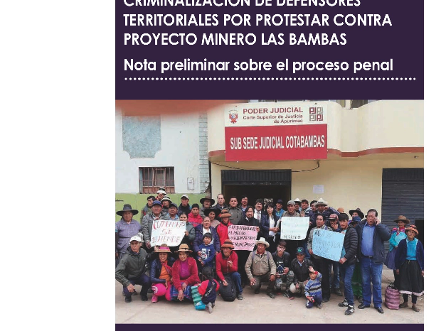 FIDH y la OMCT manifiesta su grave preocupación por las numerosas irregularidades e ilegalidades identificadas en el caso Las Bambas