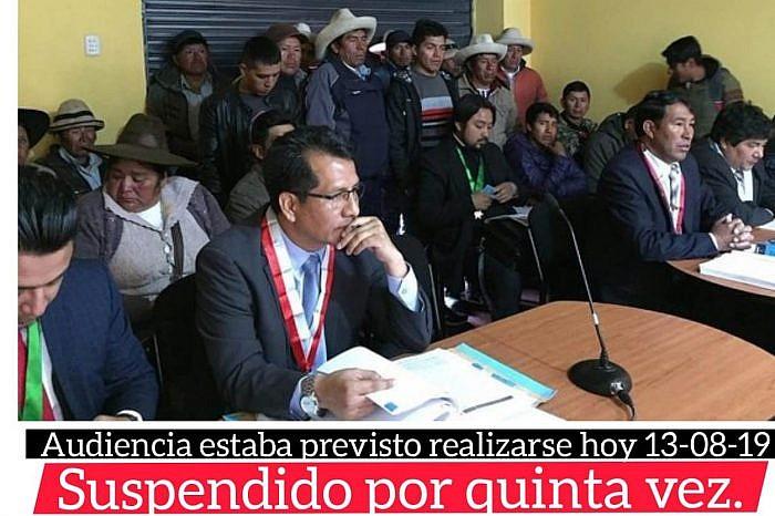 INDIGNANTE: SUSPENDEN POR QUINTA VEZ INICIO DE JUICIO ORAL POR CONFLICTO LAS BAMBAS